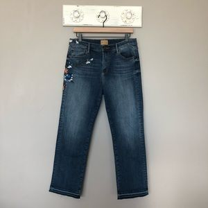 Driftwood   Amelia Floral Embroidered Jeans